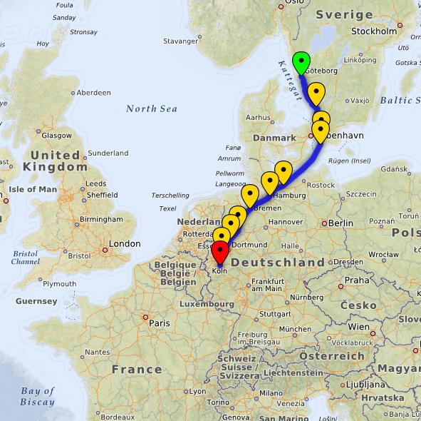 Cooperide route screenshot